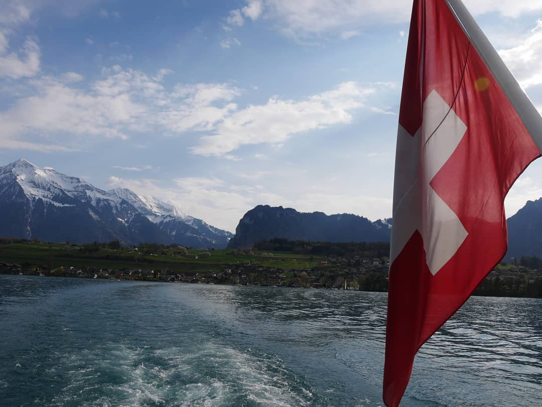 """Lake Thun, Switzerland, April 2019"""
